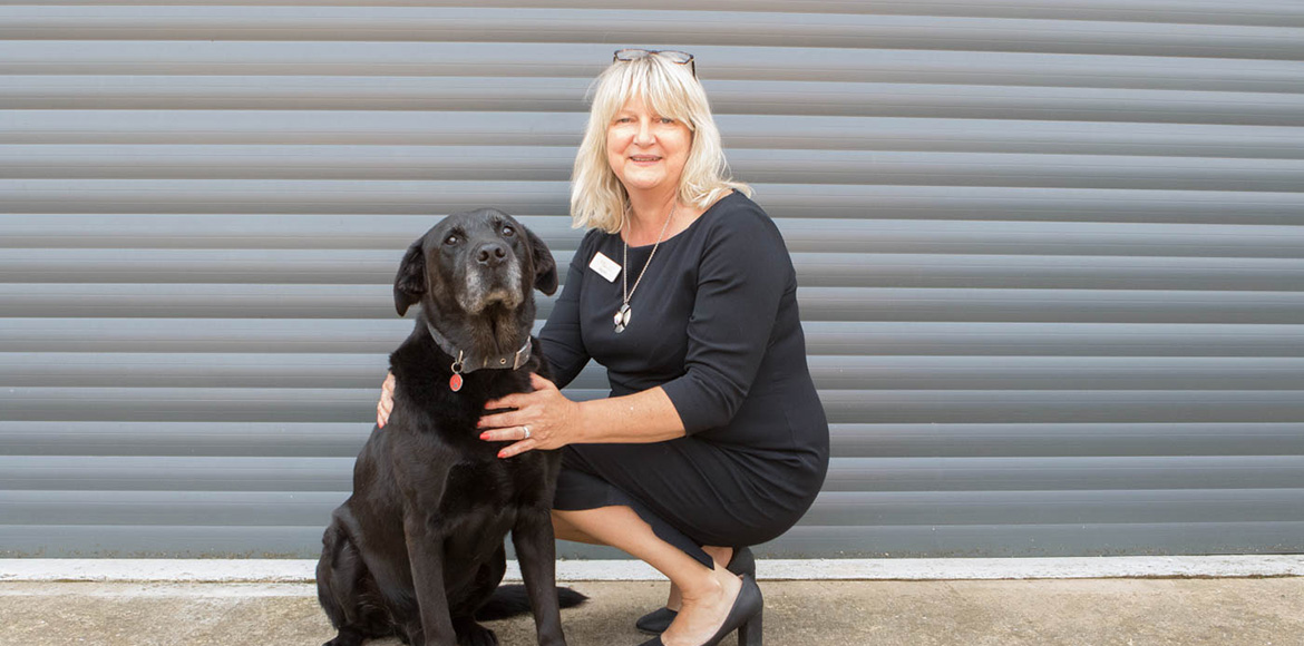 Knotts Yard Veterinary Practice - Jayne with her dog Alfie
